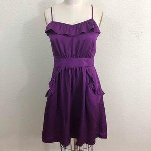 Marc Jacobs Purple Silk Cocktail Dress